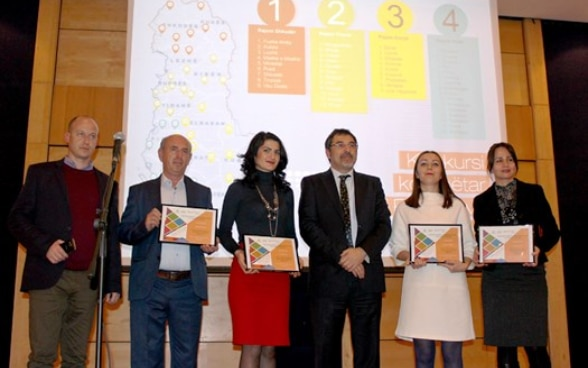 Representatives from seven municipalities receive prizes for best practices, Tirana, Albania