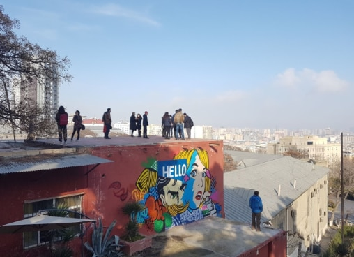 Graffiti walls in Baku