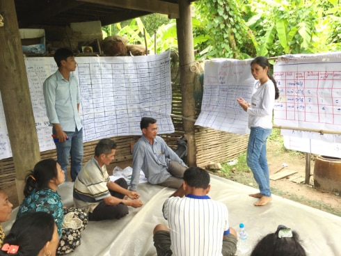 Business development meeting where farmers, traders and local authorities discuss the next steps of their business plans in Strung Treng province, Cambodia