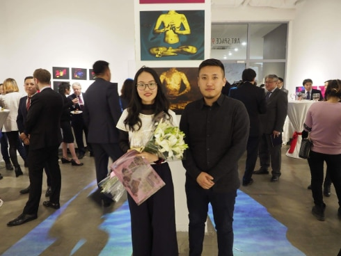 "Namuun Batbileg in her ""ME-WE"" exhibition"