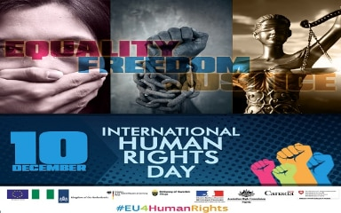 Banner International Human Rights Day Abuja 2016