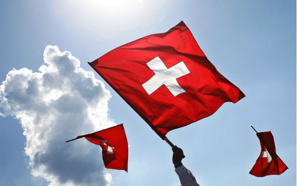 Flag tossing is a typical Swiss custom