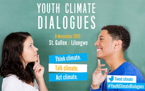 Flyer Youth Climate Dialogues St. Gallen/Lilongwe