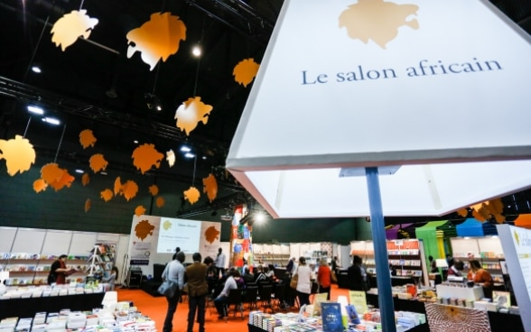 The African stand extends over 400 square metres at the Geneva Book and Press Fair.