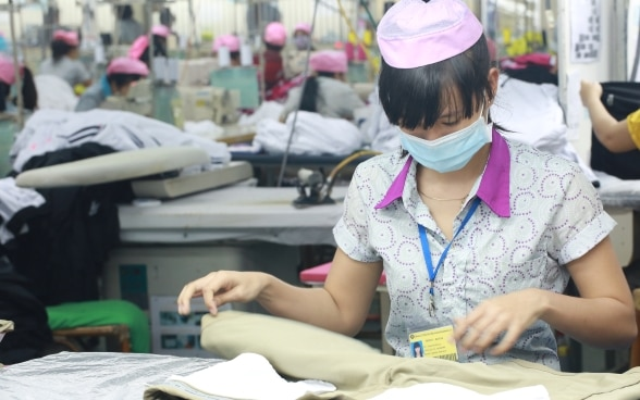 A garment factory in Vietnam supported by Better Work.
