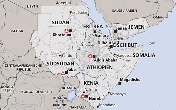 Malaria Kenia Karte.Horn Von Afrika Somalia Athiopien Kenia