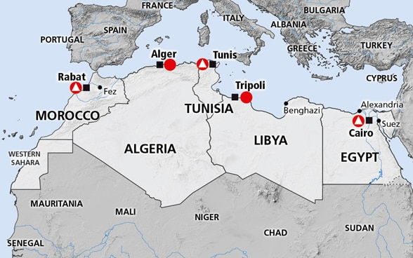 North Africa Tunisia Libya Morocco Egypt Algeria - Is egypt in africa