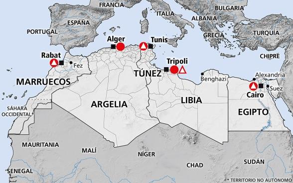 Africa Del Norte Tunez Libia Marruecos Egipto Argelia