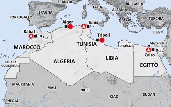 Cartina Fisica Dell Africa Settentrionale.Nord Africa Egitto Tunisia Marocco Libia E Algeria