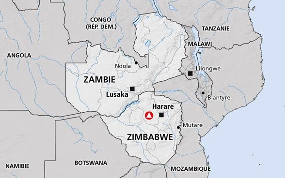 lesotho sur la carte du monde