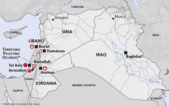 Oriente Medio Siria Líbano Jordania Iraq