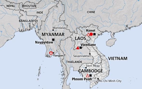 Birmanie Carte Regions.Region Du Mekong Cambodge Rdp Laos