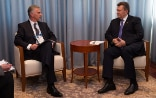 President of the Swiss Confederation, Didier Burkhalter, with Victor Yanukovych, President of Ukraine in Sochi
