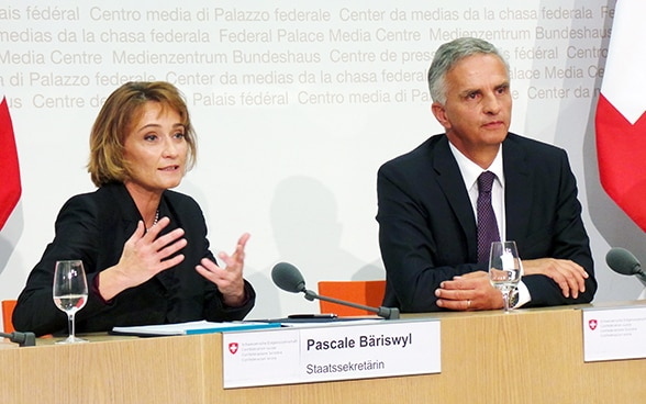 Pascale Baeriswyl and Didier Burkhalter