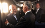 Didier Burkhalter meets with Iranian foreign minister Mohammed Javad Zarif, during the 72nd Session of the UN General Assembly.
