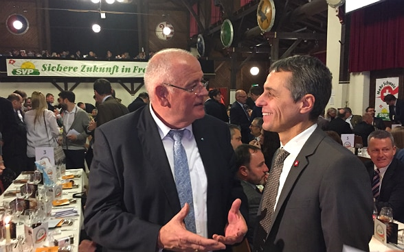 Federal Councillor Ignazio Cassis at the Albisgüetli event of the Swiss People's Party SVP