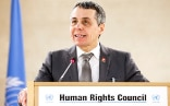 Ignazio Cassis during his speech at the opening of the UN Human Rights Council.