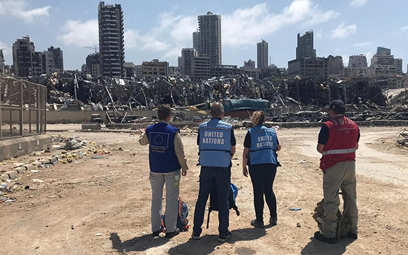 Experts from Switzerland, the EU and the UN are looking towards the ruins of the city.