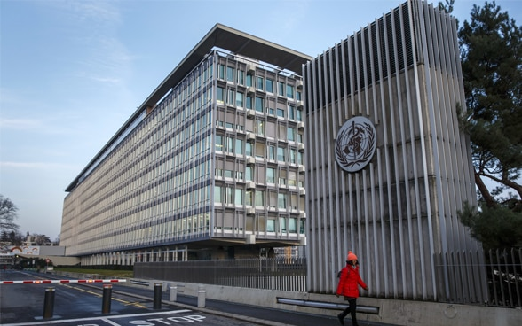 The World Health Organisation headquarters building in Geneva.