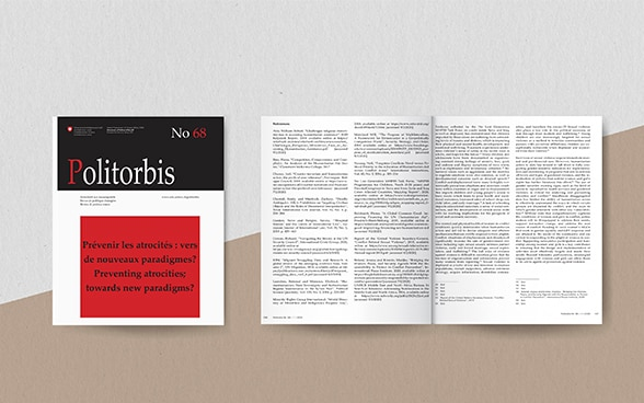 Mock-up of the current issue of POLITORBIS, November 2020.