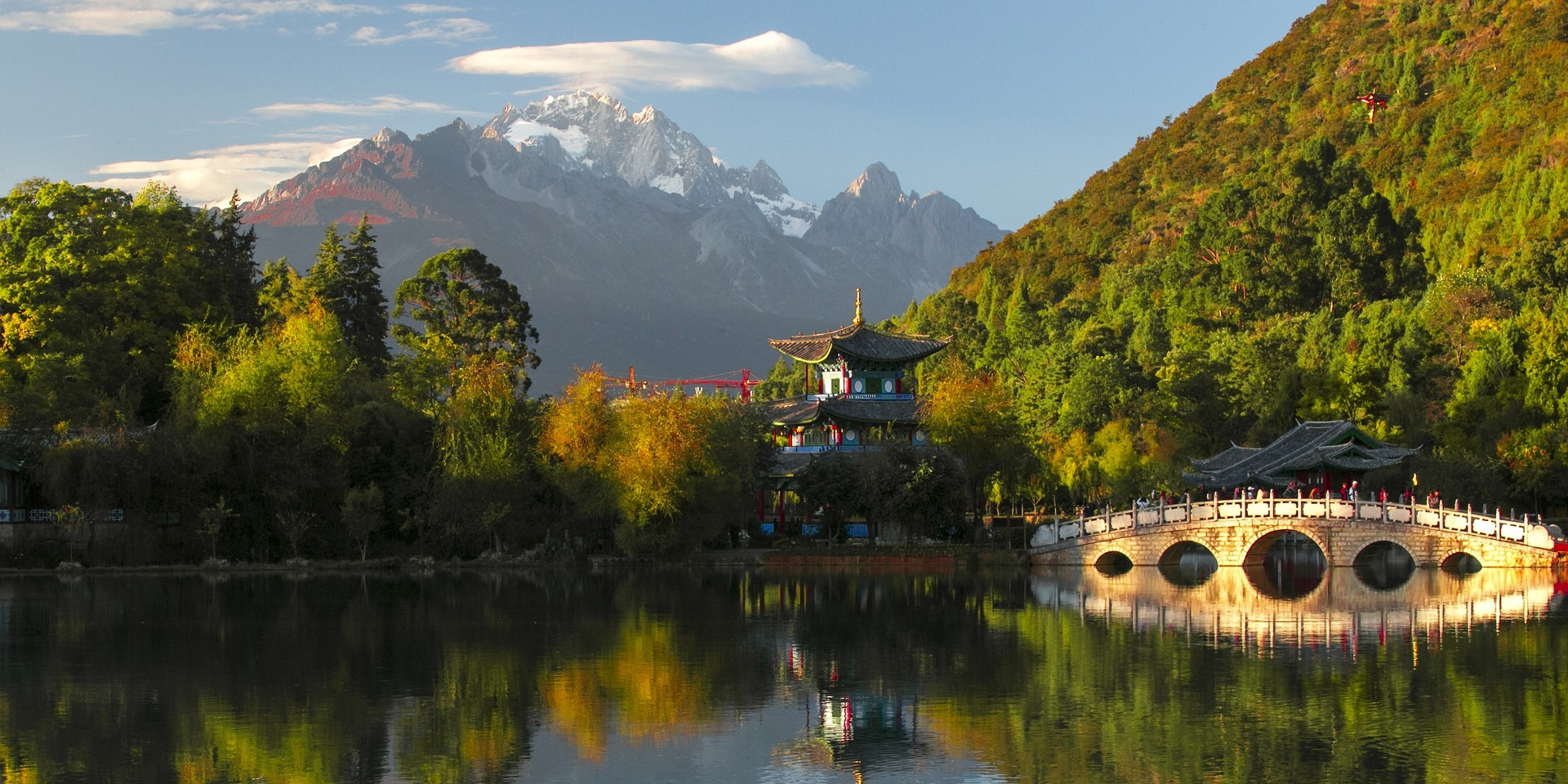 View of Jade Dragon Snow Mountain from Lijiang.
