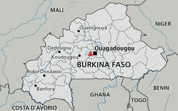 Cartina del Burkina Faso