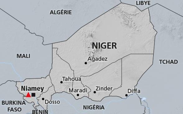 Carte Algerie Niger.Niger