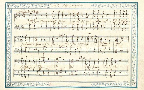 The original manuscript of the Swiss national anthem