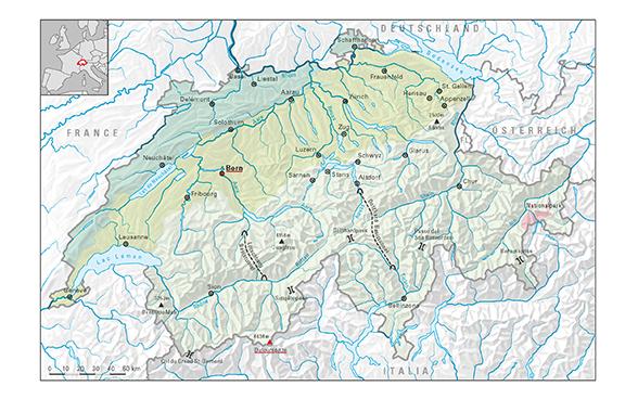 スイスの地理