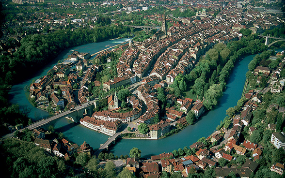 View of the old city of Bern