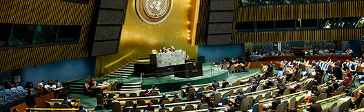 Sala plenaria dell'ONU a New York