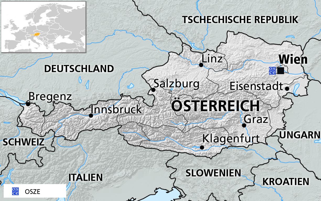 Karte Süddeutschland österreich Schweiz.Osze Wien