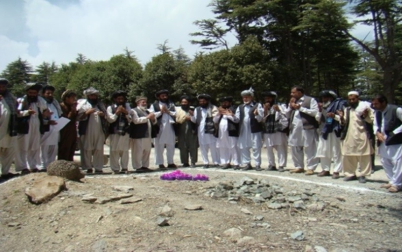 Kochan drinking water pipe scheme launch event in Tani district, Khost