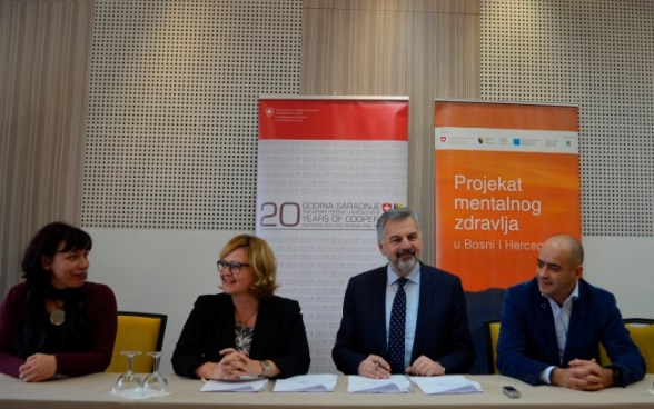 Signing of an agreement between the Faculty of Medicine of the University in Zenica and Association XY within the Mental Health Project in Bosnia and Herzegovina