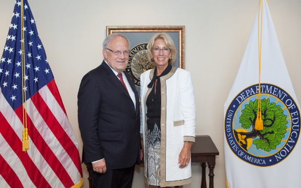 Federal Councillor Schneider-Ammann's meeting with U.S. Secretary of Education, Betsy DeVos