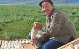 Woman preparing a traditional Mongolian snack