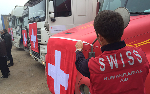 One convoy of 20 trucks carrying 293 tonnes of goods reached Donetsk. Among the transported goods were aluminium sulphate and chlorine, destined for the Donbas waterworks, and reagents and cancer medicines for two hospitals.