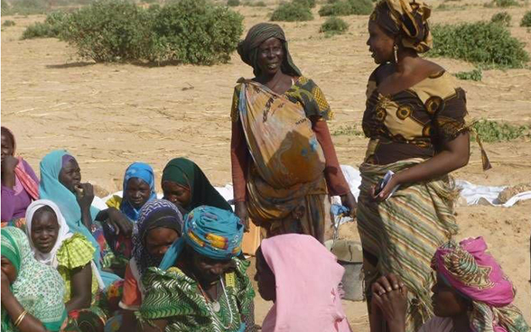 A group of women in Chad's Sahel region.