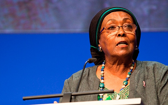Edna Adan Ismail at the Annual Conference.