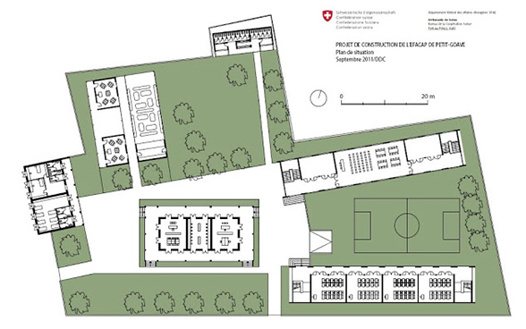 Technical plan of the future building. © SDC