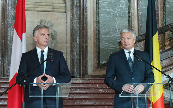 Didier Burkhalter with the Belgian Minister of Foreign Affairs Didier Reynders