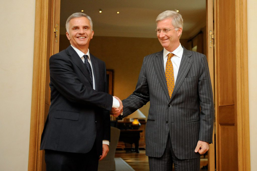 Didier Burkhalter with King Philippe.
