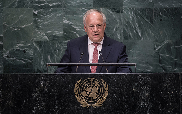 The President of the Swiss Confederation, Johann N. Schneider-Ammann present Swiss foreign policy priorities in the context of the UN for the coming year.