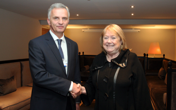 Federal Councillor Didier Burkhalter with the Argentinian Minister of Foreign Affairs Susana Malcorra. © FDFA