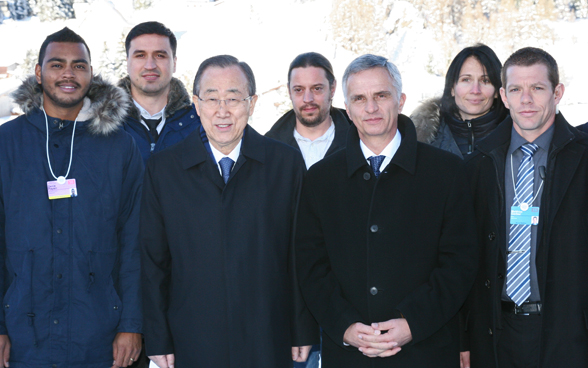 Federal Councillor Didier Burkhalter with the Secretary-General of the United Nations, Ban Ki-moon. © FDFA