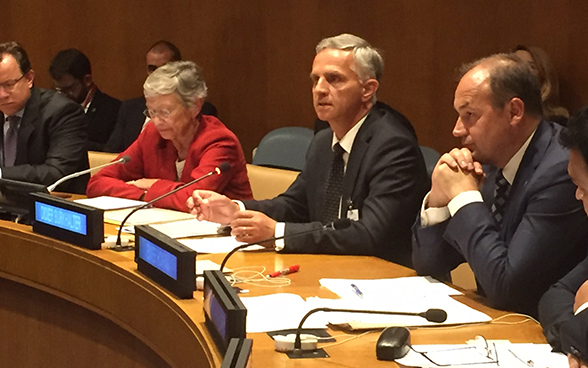 Federal Councillor Didier Burkhalter represents Switzerland during the ministerial (high-level) week in New York at various events on current topics.