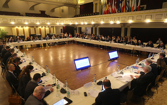 Plenary Assembly of delegates from the IHRA member states at the Hotel National in Bern.