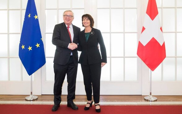 Meeting between President of the Swiss Confederation Doris Leuthard and President of the EU Commission Jean-Claude Juncker on 23 November 2017