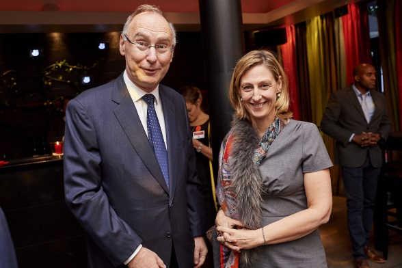 Ambassador of Switzerland to the Kingdom of Belgium Christian Meuwly and Ambassador of Austria to the Kingdom of Belgium Elisabeth Kornfeind