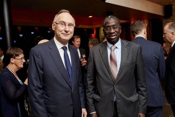 Ambassador of Switzerland to the Kingdom of Belgium Christian Meuwly and Ambassador of Senegal to the Kingdom of Belgium Amadou Diop